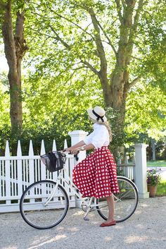 Bike riding in East Hampton // A gingham skirt throwback on Notepad No. 23 // Atlantic-Pacific