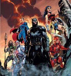 Justice League by Jim Lee Arte Dc Comics, Dc Comics Superheroes, Dc Comics Characters, Marvel Comics, Zack Snyder Justice League, Justice League 2017, Avengers Vs Justice League, Hq Dc, Batman Art