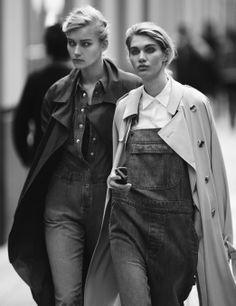 White Fashion, Spring Fashion, W Magazine, Michael Kors Sunglasses, Love Jeans, Editorial Fashion, Fashion Photography, Women Wear, Street Style