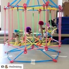 Yes yes yes!! Look at this awesome carousel! #repost  @the3rsblog with @repostapp  ・・・  This week my students made an amazing Carousel out of @strawbees and we are so excited to share it! #strawbees #makermovement #carousel