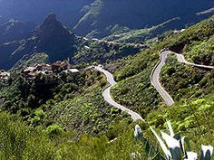 Crossing the Anaga Mountains, Tenerife, Canary Islands
