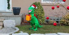 Merry T-REX-Mas! T Rex, Fossils, Dinosaurs, Wildlife, Merry, Outdoor Decor, Animals, Home Decor, Animales