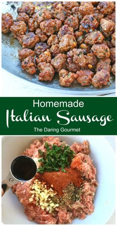 This homemade Italian sausage recipe tastes WAY better than store-bought, is easy to make, and you can freeze it for convenient access! Italian Sausage Seasoning, Homemade Italian Sausage, Homemade Sausage Recipes, Italian Sausage Recipes, Pork Recipes, Cooking Recipes, Recipies, Bisquick Homemade, Gourmet