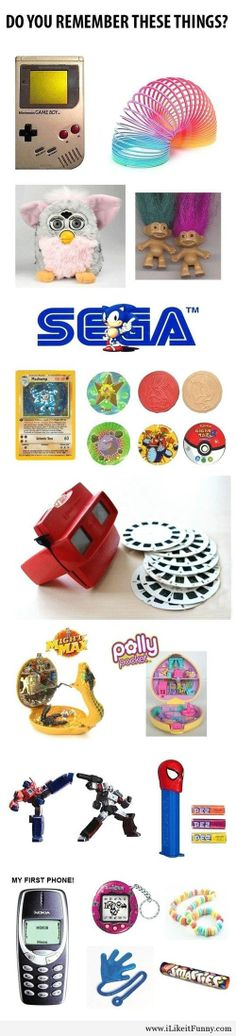 Haha i remember the slinky, gameboy, candy bracelets, etc