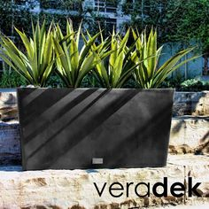 A sleek and simple design for your container garden. Made of a patented plastic composite, this planter will stand up to the tests of time.
