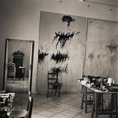 Italian studio of American artist Cy Twombly. (Francois Halard)