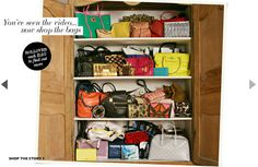 My ideal bag closet...anyone wanna second that motion?