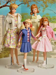 Spring fashions for Barbie, Midge, Skipper and Skooter!