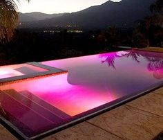 A swimming pool is a profitable home facility. With the swimming pool, the house becomes refreshing. Here are some swimming pool designs outside the door and inside. Luxury Swimming Pools, Luxury Pools, Dream Pools, Swimming Pool Lights, Indoor Swimming, Backyard Pool Designs, Swimming Pool Designs, Backyard Pools, Backyard Ideas