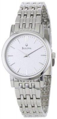 Relógio Bulova Women's 96L131 Silver White Dial Bracelet Watch #Relogios #Bulova