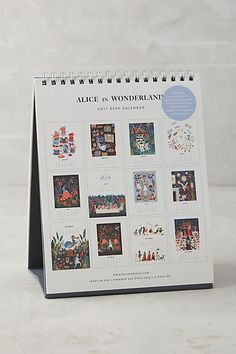 Alice in Wonderland 2017 Desk Calendar - anthropologie.com
