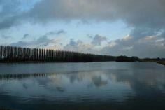 Scenic landscape at the Kardingerplas in Groningen.