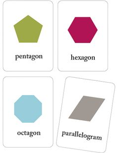 Basic Printable Shapes Flash Cards - Mr Printables