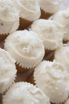 Coconut Cupcakes with Seven Minute Frosting