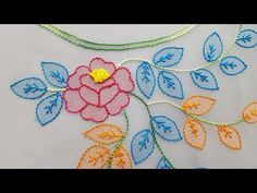 Embroidery For Beginners Shadow Work:Hand Embroidery/Neckline embroidery for Churidar:Blouse - Christmas Embroidery Patterns, Basic Embroidery Stitches, Hand Embroidery Videos, Embroidery Flowers Pattern, Embroidery Fabric, Embroidery For Beginners, Learn Embroidery, Hand Embroidery Designs, Embroidery Techniques