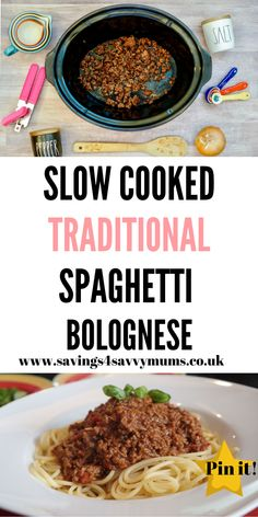 This slow cooked traditional spaghetti bolognese recipe that's perfect for the whole family to eat and cheap to make too by Laura at Savings 4 Savvy Mums Traditional Spaghetti Bolognese, Cheap Meals, Easy Meals, Budget Meals, Budget Recipes, Bolognese Recipe, Free Meal Plans, Fun Easy Recipes, Family Meals