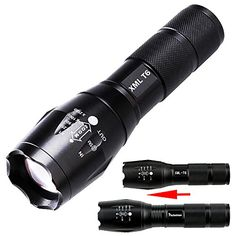 Tactical Flashlight Zoomable Pocket Flashlights Outdoor Aluminum Mini Military LED Flashlight Portable Torch Lamp For AA Battery for Camping Hiking etc for Camping Hiking etc