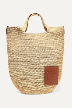 Loewe Carolyn Tasseled Woven Tote Ibiza, Loewe Bag, Basket Bag, Shopper, Signature Logo, Fall Trends, Tan Leather, Straw Bag, Shoulder Strap