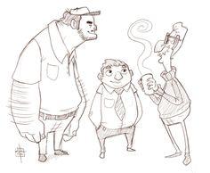 Coworkers sketch by *LuigiL on deviantART