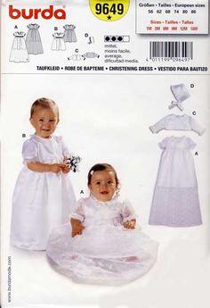816982a70c ubranko do chrztu - wykrój BURDA 9649 pasmanteria  internetowa  toiowo  Sukienki W Kwiaty