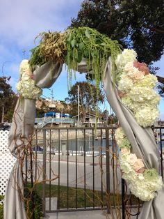 Rustic Wedding Arch  Hydrangea and Curly Willow with floral accents