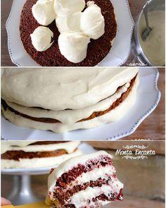 O mais famoso bolo americano é um bolo de veludo vermelho com recheio e  cobertura branca deliciosa super cremosa de cream cheese. E é a nossa receita de hoje. Bolo Red Velvet Se olharmos bem para ele observamos sua impressionante aparência.  Uma massa  aveludada úmida e macia com um sabor suave de chocolate . O sabor de chocolate vem de  uma pequena quantidade de pó de cacau adicionada à massa. Leva buttermilk ou leitelho como é conhecido aqui no Brasil ele entre entra na massa para…