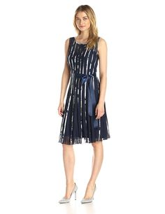 S.L. Fashions Women's Illusion Printed Mesh Dress -- See this great image  : Women's dresses