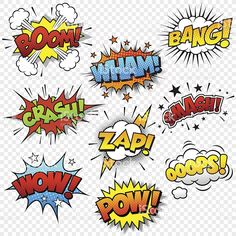 Comic Sound Effects royalty-free stock vector art