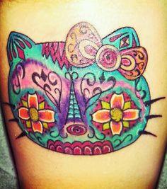 Hello Kitty Sugar Skull Tattoo   Hello Kitty sugar skull tattoo   Omgosh I Love This
