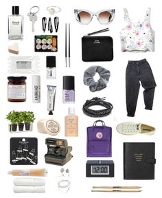 """""""Garden Girl"""" by lauranikolla ❤ liked on Polyvore featuring Levi's, Polaroid, Thierry Lasry, Chan Luu, Converse, Topshop, Boskke, NLY Accessories, NARS Cosmetics and Stila"""
