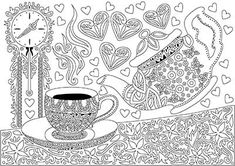 Cup of tea - Free Coloring Page