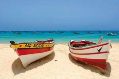 Santa Maria beach on the island of Sal, Cabo Verde Top 10 Destinations, Holiday Destinations, Santa Maria Beach, Verde Island, Cape Verde, Beaches In The World, West Africa, Belle Photo, Travel Pictures