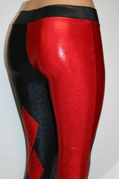 d25cdac9 Harley Quinn LeggingsCosplay Red and Black Hologram by DillyDuds Harley  Quinn Cosplay, Joker And Harley