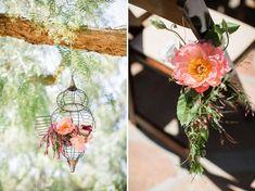 Hanging floral lanterns
