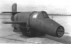 German WW2 Natter Ba 349B rocket interceptor. Could under attack , after firering it`s ammunition , separate in 2 pieces , - where the front end dissented with the pilot to the ground , - the engine continued towards the target and smashed into it . It was developed to late in the war , and only a handful prototypes where produced ...