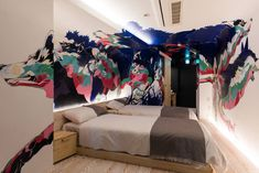 Art House: checking in to BnA Art Hotel Koenji, the Tokyo design hotel project that gives back to its creative community. Tokyo Design, Japan Design, Japan Bedroom, Hotel Inn, Tokyo Hotels, Graffiti Wall, Best Budget, Local Artists, Viajes