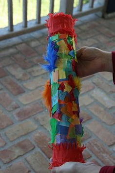 A homemade rainstick.  The website this came from is full of great ideas for sensory buckets, too.