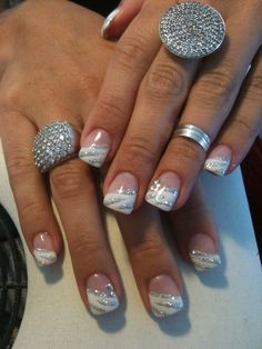 Maryline french tip nail designs, toe nail designs, colorful nail designs, winter nail French Tip Nail Designs, Pretty Nail Designs, French Tip Nails, Toe Nail Designs, Acrylic Nail Designs, Acrylic Nails, Gel Nail Tips, Gel Nail Art, Sparkle Nails