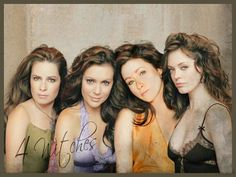 Charmed's Sisters Halliwell: Piper (Holly Marie Combs), Phoebe (Alyssa Milano), Prue (Shannen Doherty), & Paige [Matthews] (Rose McGowan).