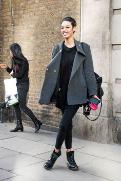 Street fashion: London Fashion Week jesień-zima 2015/2016, fot. Imaxtree