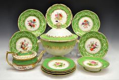 (12) ANTIQUE ENGLISH BLOOR DERBY & OTHER TABLEWARE : Lot 284