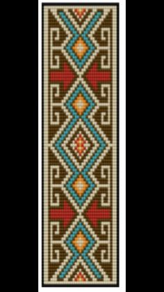 Red Arrows Beading loom bracelet pattern Inspired on historical native american…
