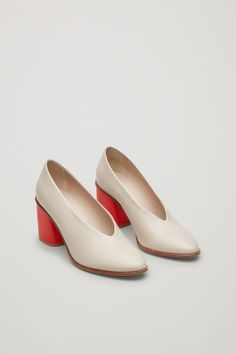 COS Chunky Heel Pumps in Sand