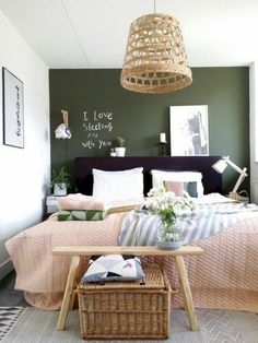 Latest small bedroom ideas shabby chic for 2019 bedroom green 10 Small Be. - Latest small bedroom ideas shabby chic for 2019 bedroom green 10 Small Bedroom Ideas That Ar - Small Bedroom Inspiration, Small Bedroom Ideas For Couples, Small Bedroom Designs, Design Bedroom, Bedroom Layouts For Small Rooms, Bed Design, Daily Inspiration, Color Inspiration, Interior Inspiration