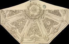 [Decoración para el techo de una estancia ochavada]. Anónimo español s. XVIII — Dibujo — 1700-1750