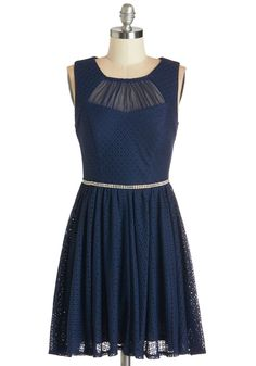 Pause for Celebration Dress. Dont be alarmed when your arrival causes everyone to stop and look, because when youre wearing this navy dress, theres always pause to celebrate your elegant look. #blue #prom #modcloth