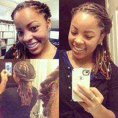 Yes I styled my locs yesterday! So besides every 5-6 months of retwisting I must do my hair when life demands me to! #naturalhair #natural #locs #dreadhead #dreads #locstyles