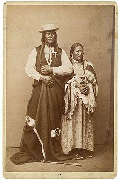 Big Foot (Oglala) and wife White Hawk (Oglala) - 1872 #native #americans