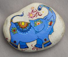 Blue Elephant Stone by QuietLittlePlace on Etsy