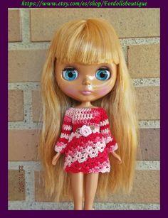 Vestido para muñeca Blythe de Fordollsboutique en Etsy